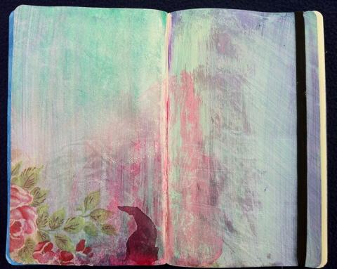 Art Journaling Napkin Decoupage Perfectly4med Artist