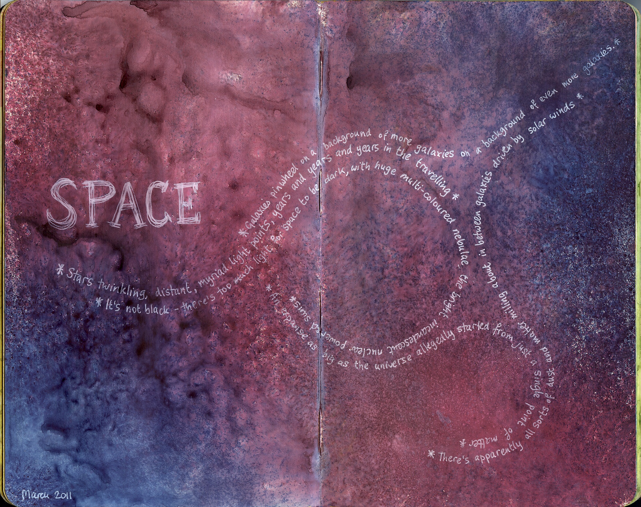 Space An Art Journal Page Perfectly4med Artist At