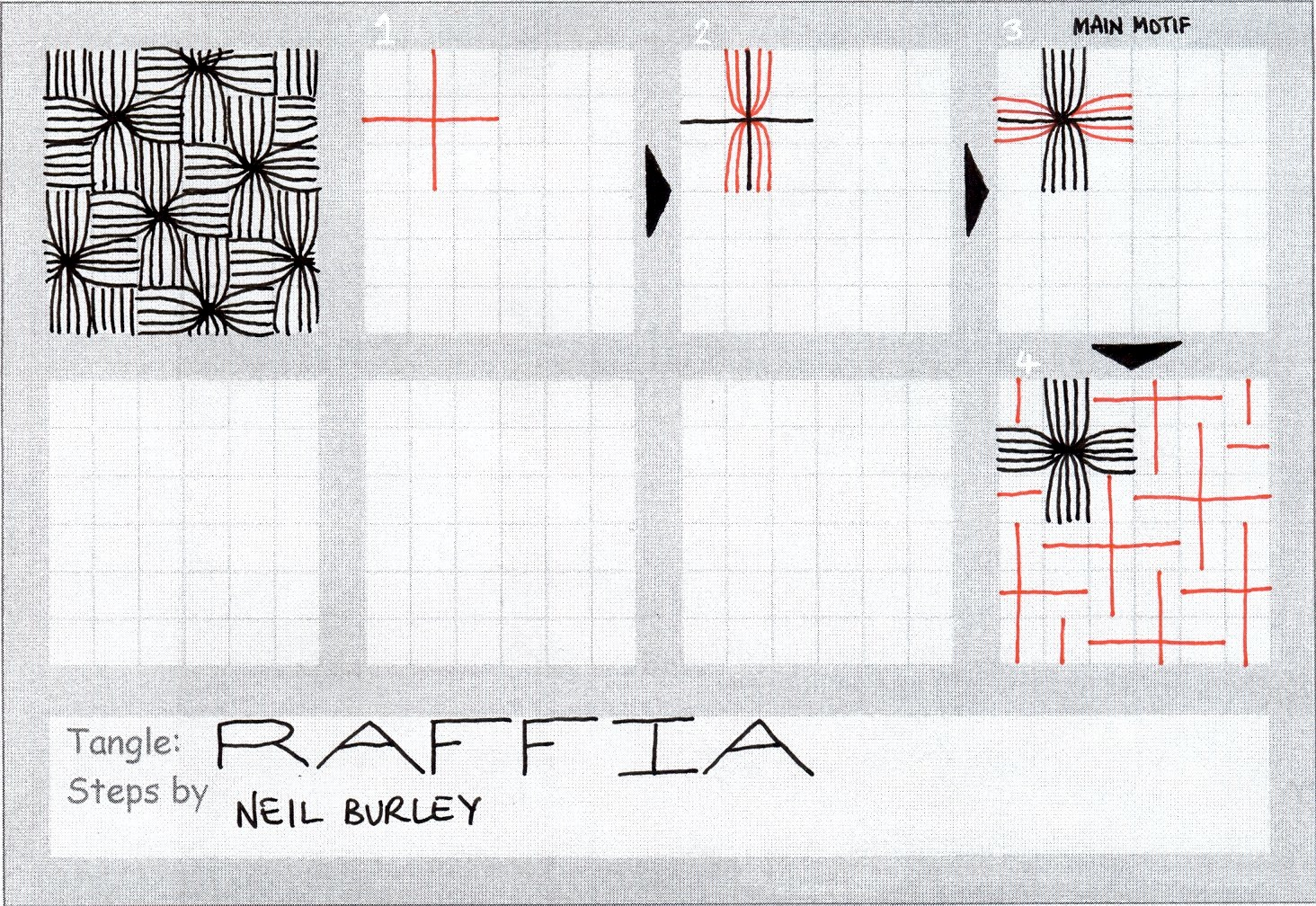 Raffia Tangle Pattern Perfectly4med Artist At