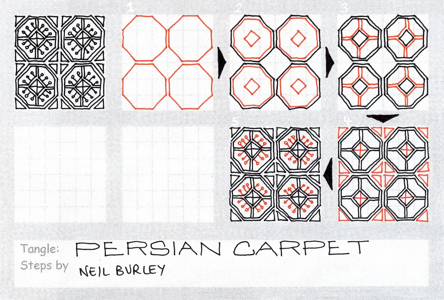 Persian Carpet – tangle pattern | perfectly4med: Artist at