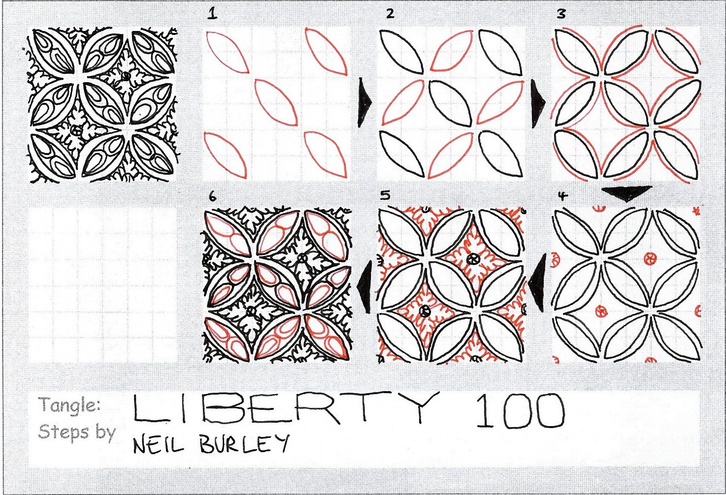 Liberty 100 - tangle pattern (and giveaway) - perfectly4med: Artist