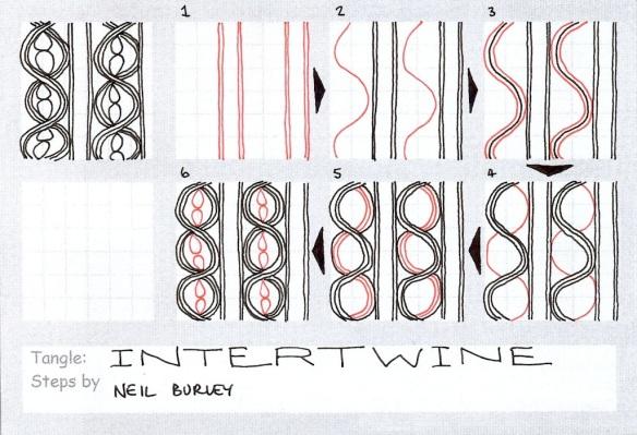 Intertwine - tangle pattern