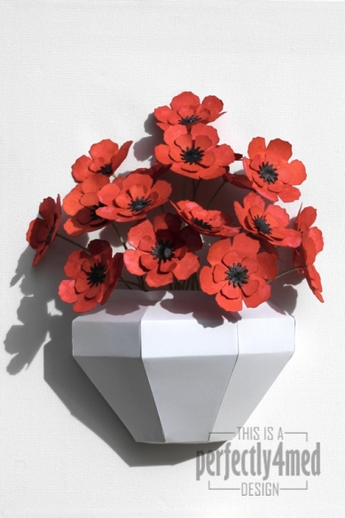 Tattered Flowers In A Paper Vase Perfectly4med Artist At Workperfectly4med Artist At Work