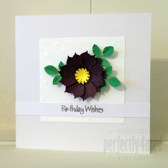 Handcrafted Clematis Card