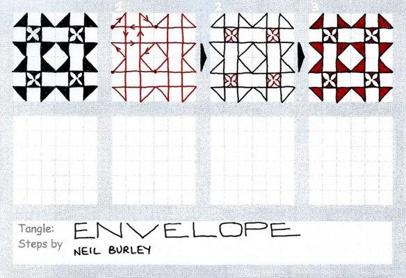 Envelope - tangle pattern