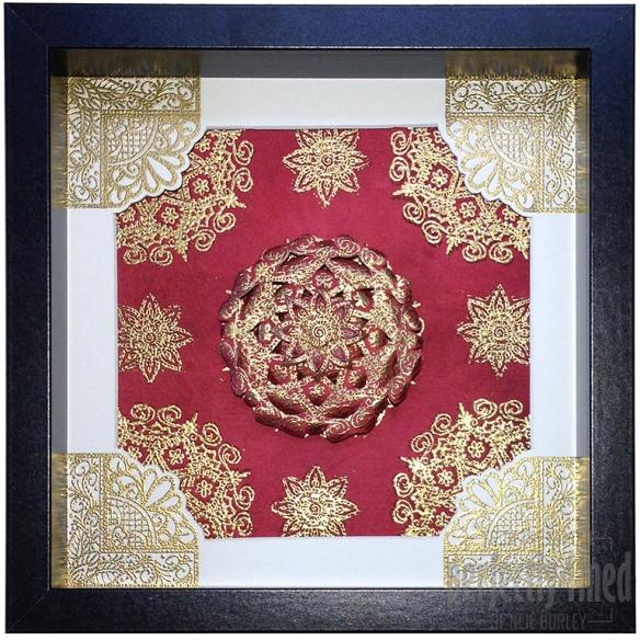 Henna Mosaic Framed