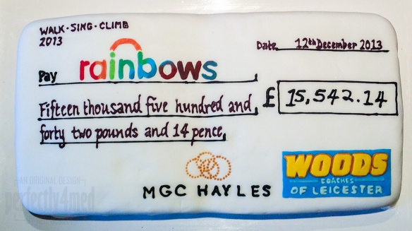 Rainbows Donation Cake